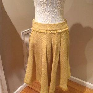 Maeve Lined Yellow tweed Skirt